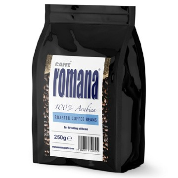 Romana roasted coffee beans