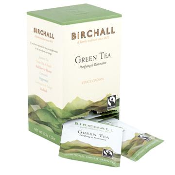 Birchall Green Tea 25 Tagged & Enveloped Tea Bags