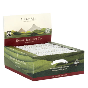 Birchall English Breakfast Tea 100 Tagged Tea Bags